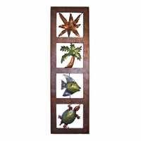 Vertical Beach Frame Metal Wall Art