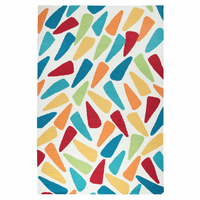 Vibrant Triangles Rug - 9 x 12