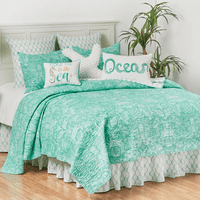 Victoria Bay Coastal Quilt Set - Full/Queen