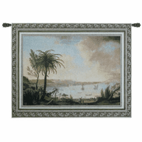 View of Naples Wall Tapestry