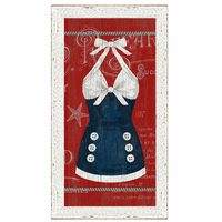 Vintage Bathing Suit II Framed Art