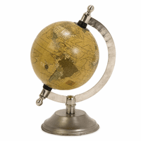 Vintage Globe with Nickel Base