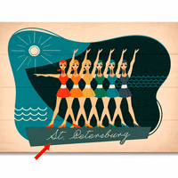 Vintage Swimmers Personalized Sign