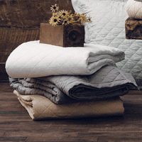 Vintage White Linen Quilt Collection - OVERSTOCK