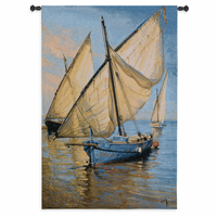 Violet Boat Wall Tapestry