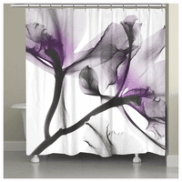 Violet Oceanic Orchid Shower Curtain