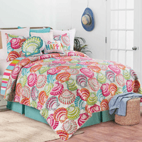 Vivid Shells Quilt Bedding Collection