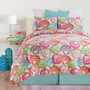 Vivid Shells Quilt Set - Full/Queen