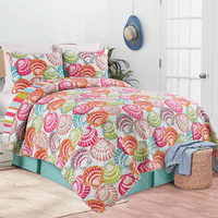 Vivid Shells Quilt Set - Full/Queen - OUT OF STOCK