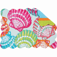 Vivid Shells Table Linens
