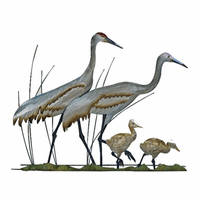 Wading Crane Family Wall Art