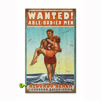 Wanted Able Bodied Men Personalized Signs