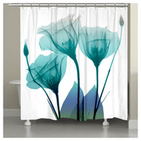 Water Flowers Shower Curtain - OVERSTOCK