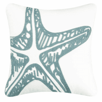 Water's Edge Starfish Rice Stitch Pillow