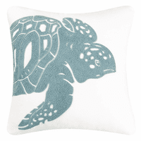 Water's Edge Turtle Rice Stitch Pillow