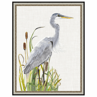 Waterbirds and Cattails I Framed Print