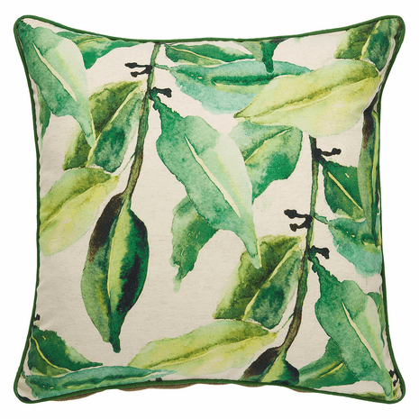 Watercolor Leaves Pillow - Down Filling