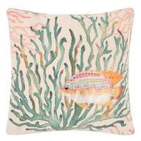 Watercolor Rainbow Fish Pillow