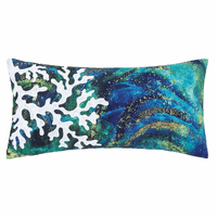 Watercolor Reef Coral Pillow