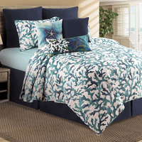 Watercolor Reef Quilt Set - King