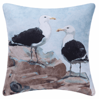 Watercolor Seagulls Indoor/Outdoor Pillow