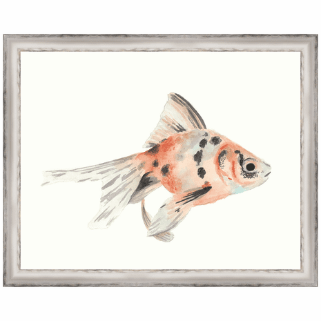 Watercolor Tropical Fish I Framed Print
