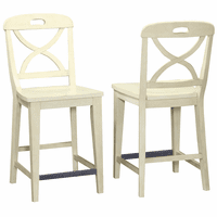 Waterfront Buttermilk Finish Counter Stools - Set of 2