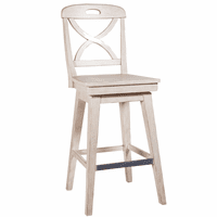 Waterfront Buttermilk Finish Swivel Barstool