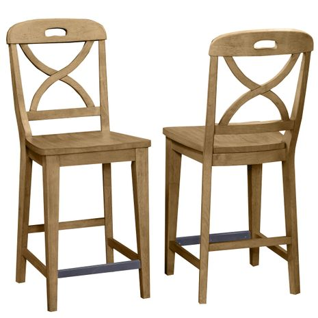 Waterfront Sand Finish Counter Stool - Set of 2
