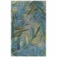 Waterside Blue Palms Rug Collection