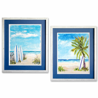 Wave Ride Framed Art - Set of 2