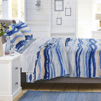 Waves & Fish Quilt Set - Twin