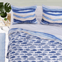 Waves & Fish Quilt Set - King