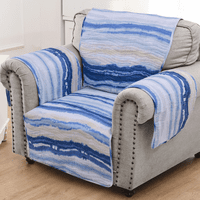 Waves & Fish Arm Chair Protector