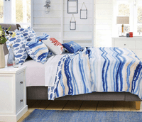 Waves & Fish Quilt Bedding Collection