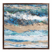 Waves Framed Canvas