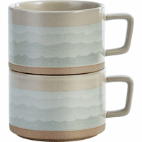 Waves of the Pacific Soup Mugs - Set of 2