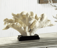 Wavy White Coral Resin Statue