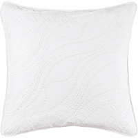 Wavy White Square Pillow