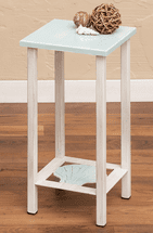 Weathered Blue Seashell Accent Table