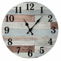 Weathered Coastal Wall Clock
