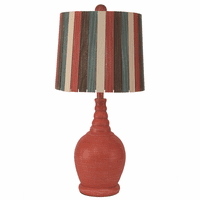 Weathered Coral Accent Lamp with Ribbed Neck
