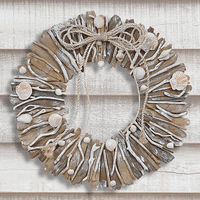 Weathered Driftwood & Shell Wreath