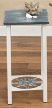 Weathered Nautical Compass Accent Table