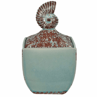 Weathered Nautilus Canister - OVERSTOCK