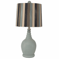Weathered Sea Mist Accent Lamp with Ribbed Neck