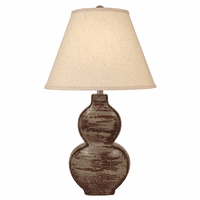Weathered Stacked Table Lamp