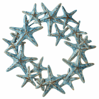 Weathered Starfish Metal Wreath