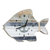 Weathered Tropical Fish Wall Clock