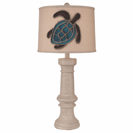 Weathered Turtle Table Lamp